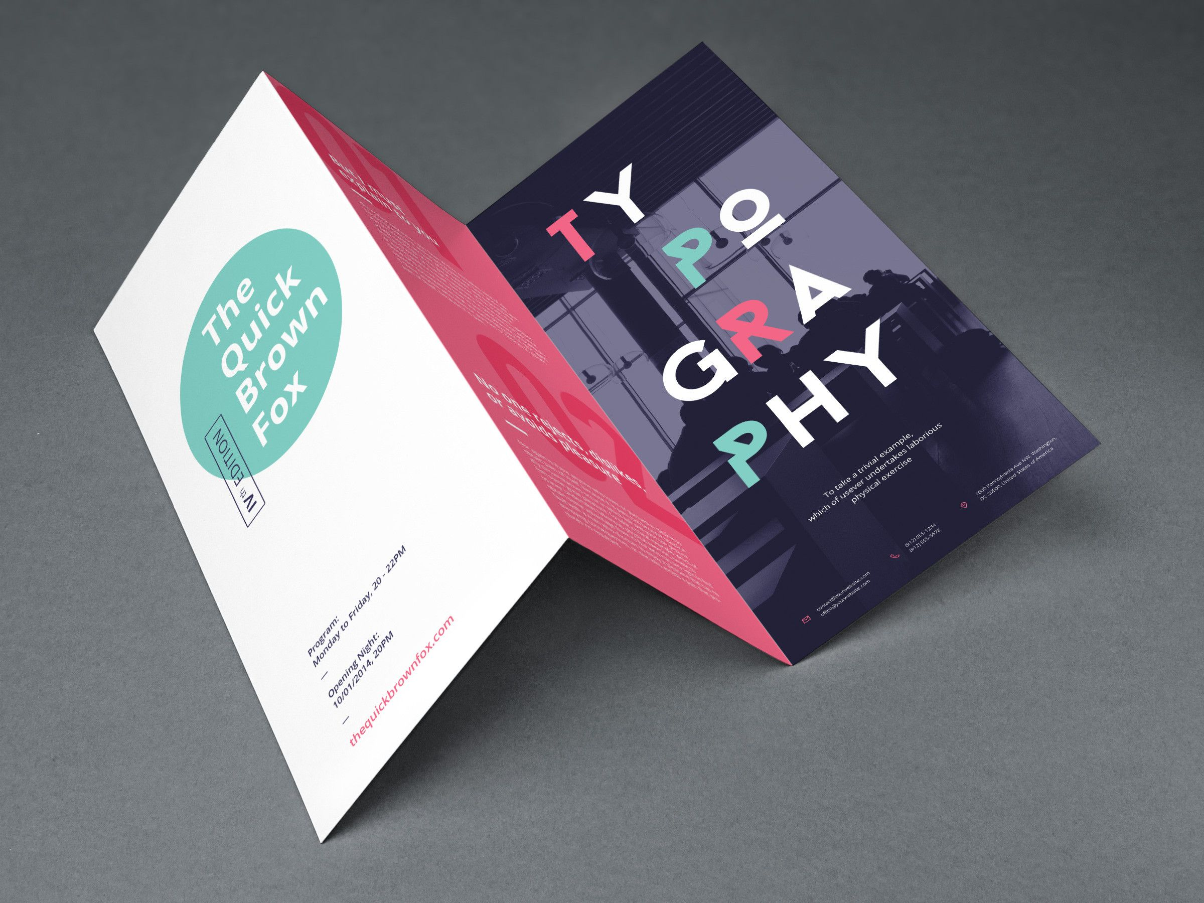 Free Tri Fold Brochure Mockup Template Is Perfect For To