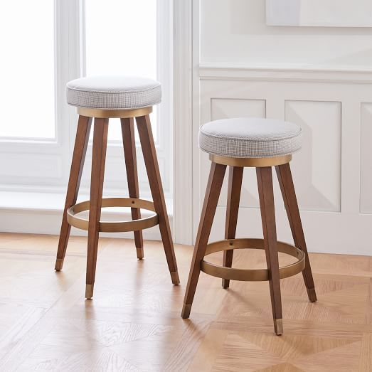 Upholstered Backless Counter Stool Bindu Bhatia Astrology
