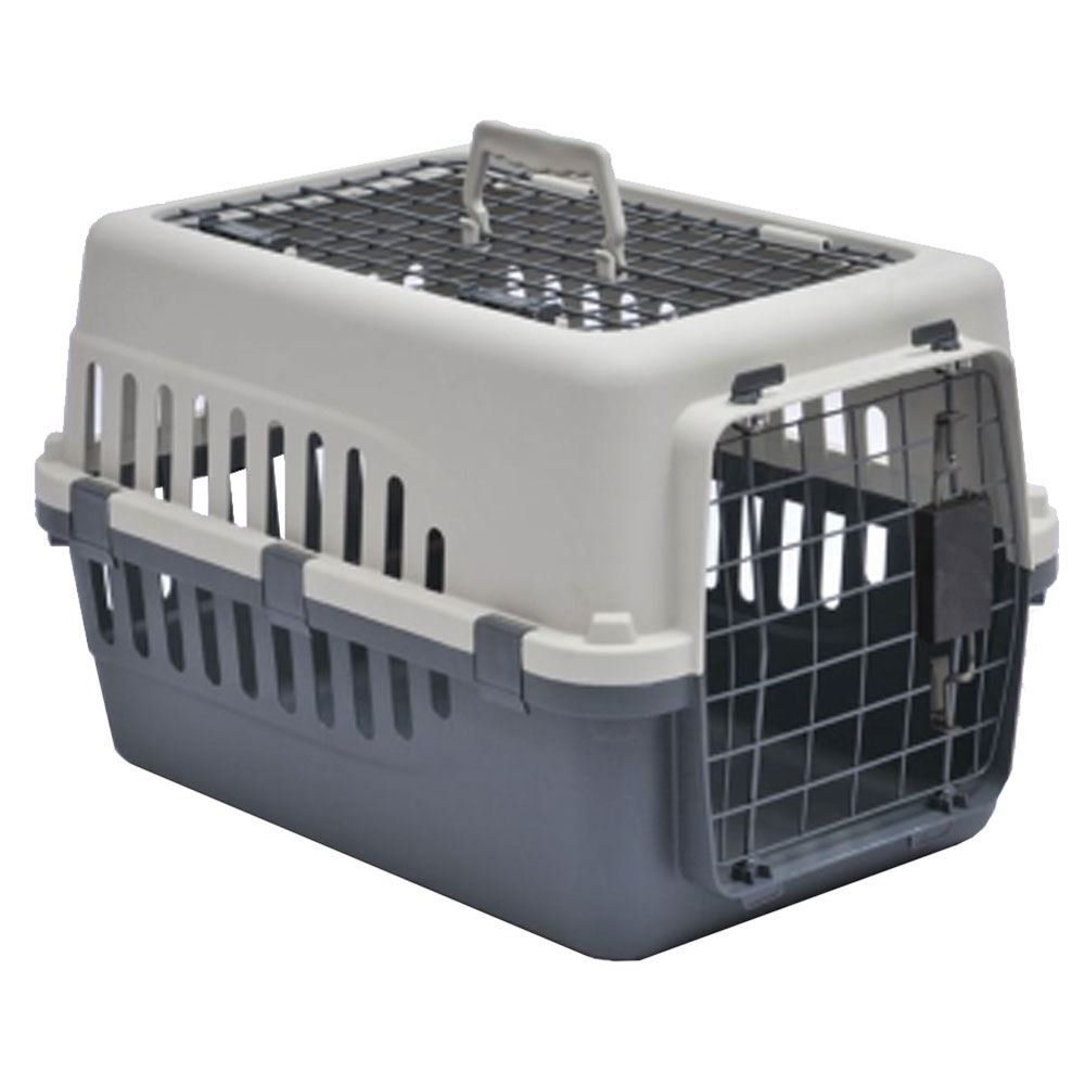 Home Discount Pet Carrier Animal Cage Cat Dog Transport Box Spring Lock Door White And Grey 2 Door Click On The Image Pet Carriers Dog Transport Pet Cage