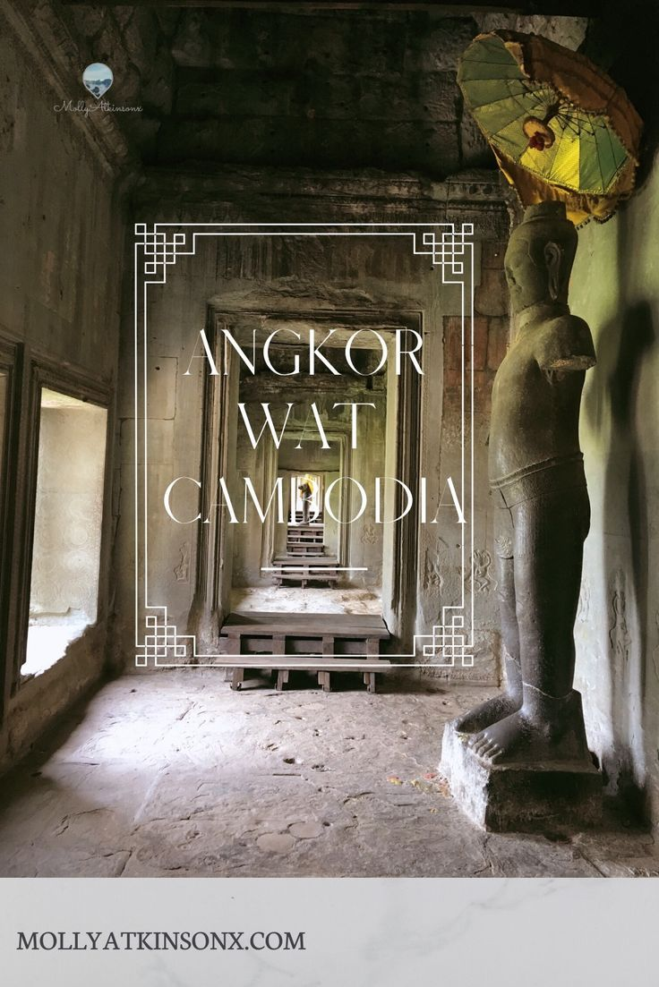 """Blog Post about visiting Angkor Wat  The largest religious monument in the world. New ruins & temples are being discovered every year. The site stretches over more than 154 square miles. Angkor Wat means """"city of temples""""  #AngkorWat #AngkorWatCambodia #AngkorThom #BayonTemple #SiemReap #Cambodia #TravelCambodia #Southeastasia"""