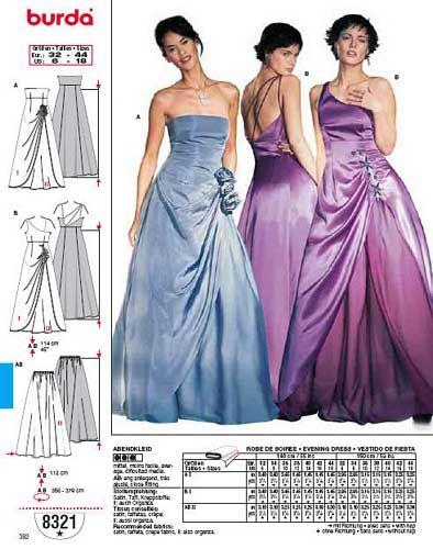 38fec4c1ffd patron couture gratuit robe de soirée 7