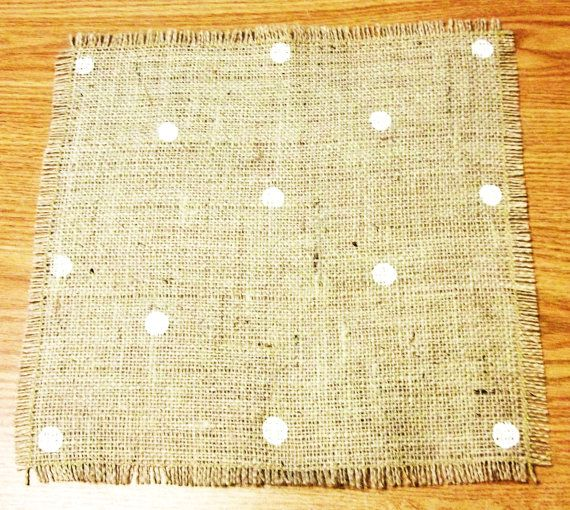Burlap Table Mat  Natural Jute Color  Polka by SimpleJoysDecor, $6.00