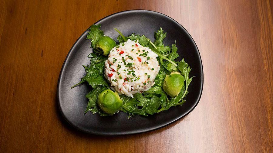 Nigella's Three-Course Dinner - Crab and Avocado Salad [Recipe by: Nigella Lawson]