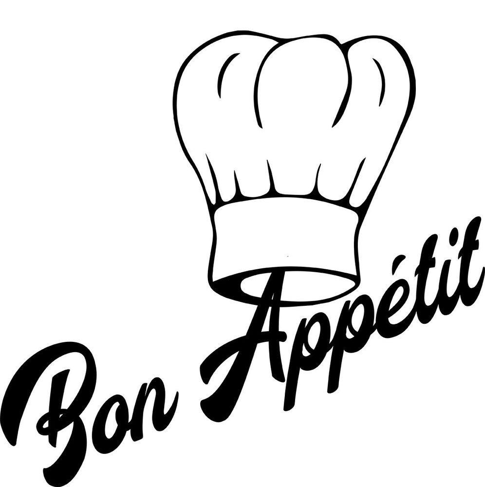 Stickers autocollant Cuisine bon appétit décoration cuisine