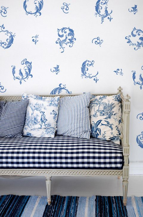 #maudjesstyling# All the different patterns blue and white:  it  works