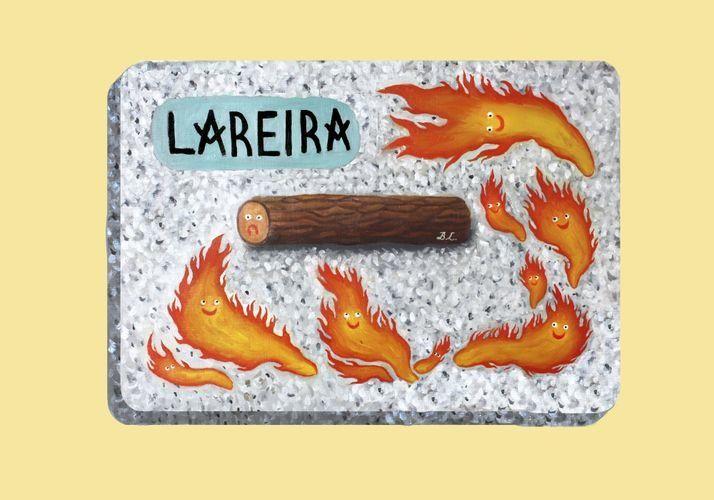 La Lareira, vista pola ilustradora Beatriz Lobo para o calendario Abanca 2015. .