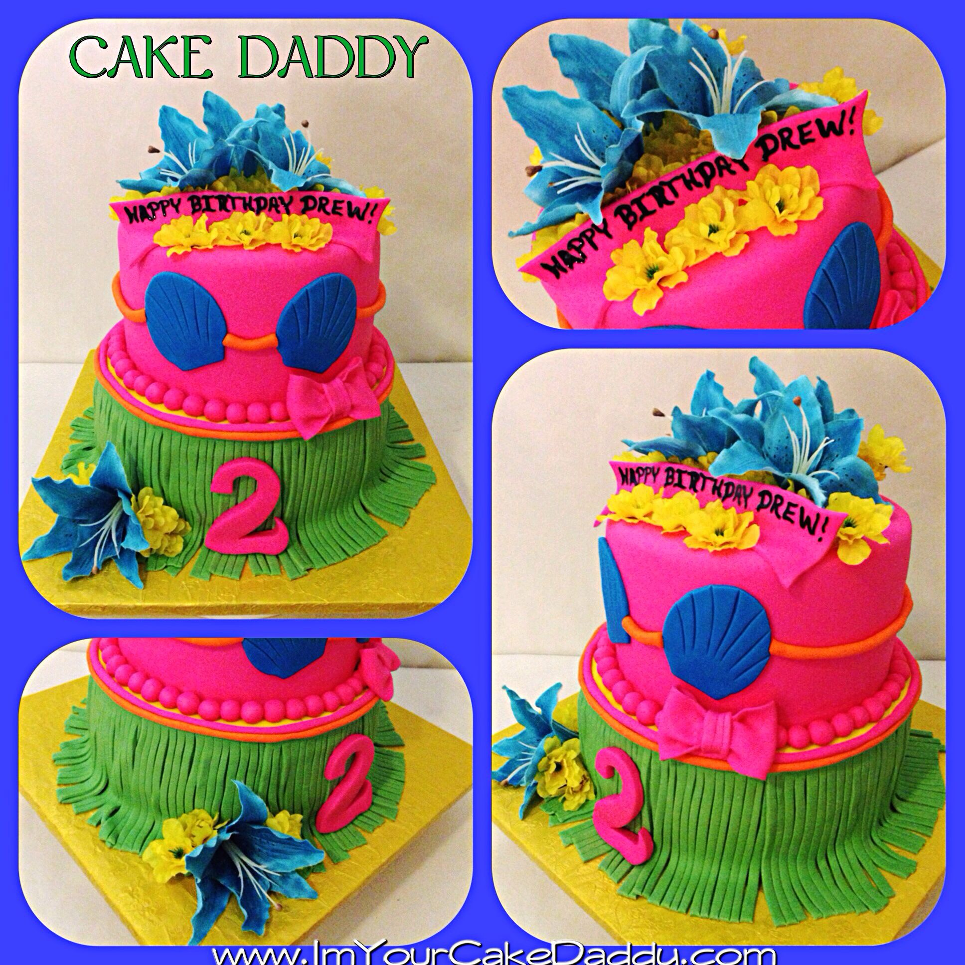 Hawaiian Tiki Birthday Cake