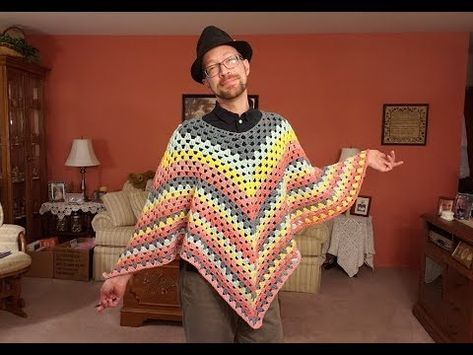The Granny Square Poncho Crochet Tutorial! - YouTube #grannysquareponcho
