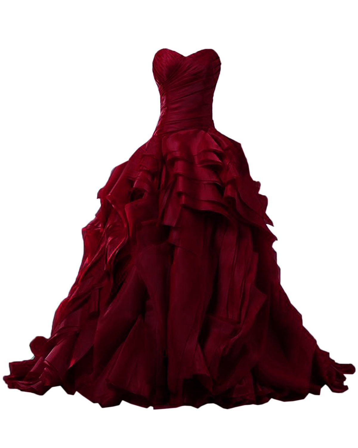 Sunvary Luxurious Burgundy Ball Gown Quinceanera Dresses for Prom with  Ruffles - US Size 20W- Burgundy 764ccc851f67