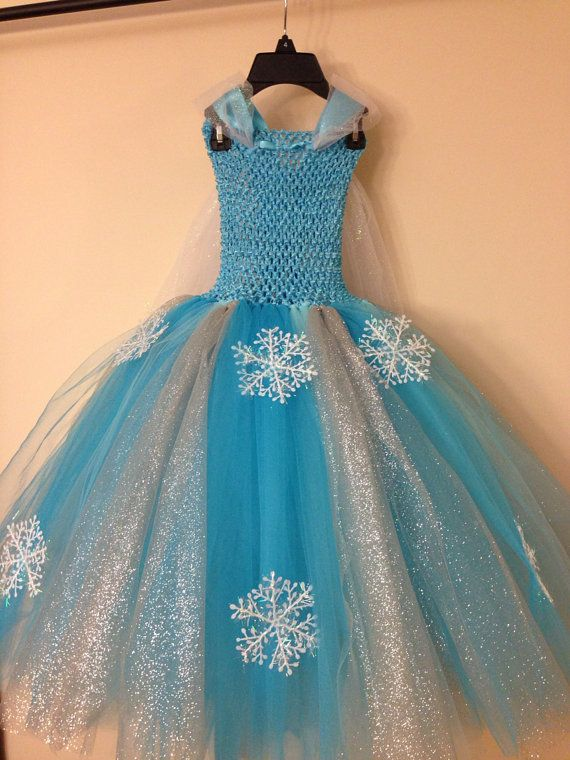 Elsa dress with cape inspired from frozen by LittledreamsbyMayra