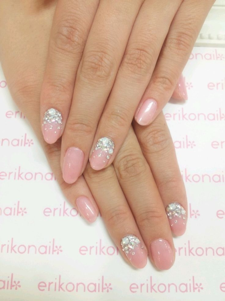 Wedding nails 2015 | nails & makeup | Pinterest | Nails 2015, Oval ...