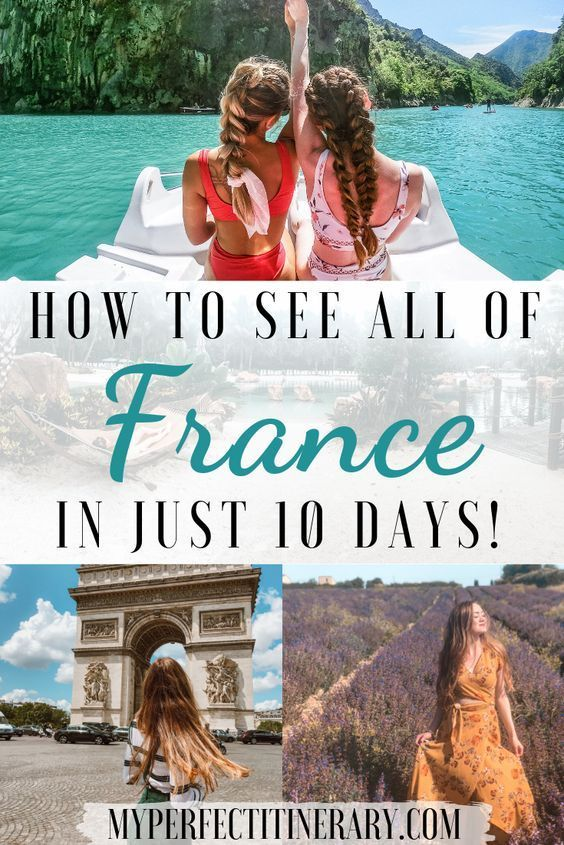 While the best known sites in France are in Paris, there is so much more to see in France! In this 10 day France Itinerary, you will get to see the bustling city of Paris, drink authentic champagne where champagne was born, ride a boat through the Gorges du Verdon, run through the rolling lavender fields of Valensole, see the rich and famous in Monaco, and relax in the quaint beach town of Nice. This guide will hit the best of France but also the hidden gems that are still untouched by tourism