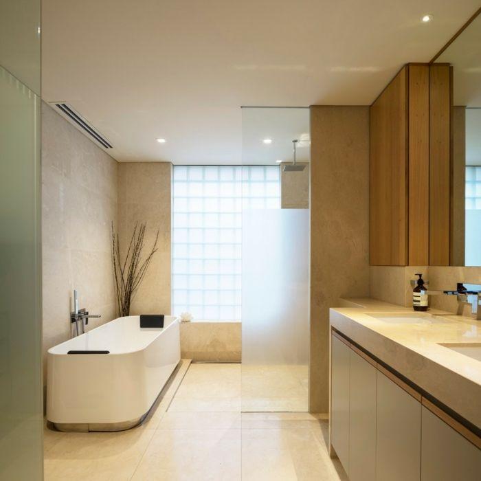 fugenloses bad luxuriöses badezimmer helle farben Bad Pinterest - farbe für badezimmer