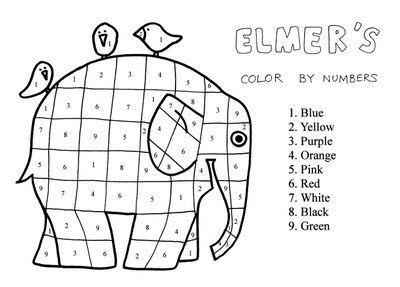 32 ausmalbilder kostenlos – Elmer – Farbe nach Anzahl – vol 3521 ...