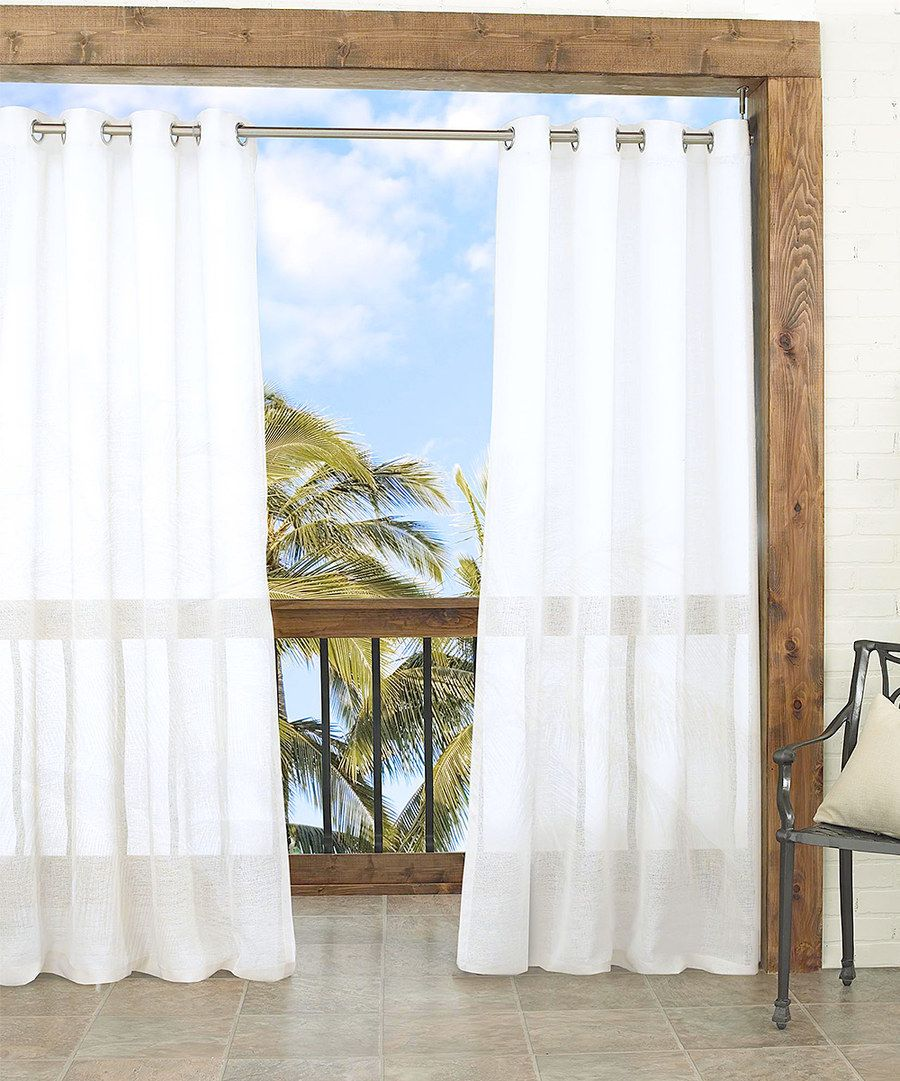 Look At This White Summerland Sheer Indoor/Outdoor Curtain Panel On #zulily  Today!