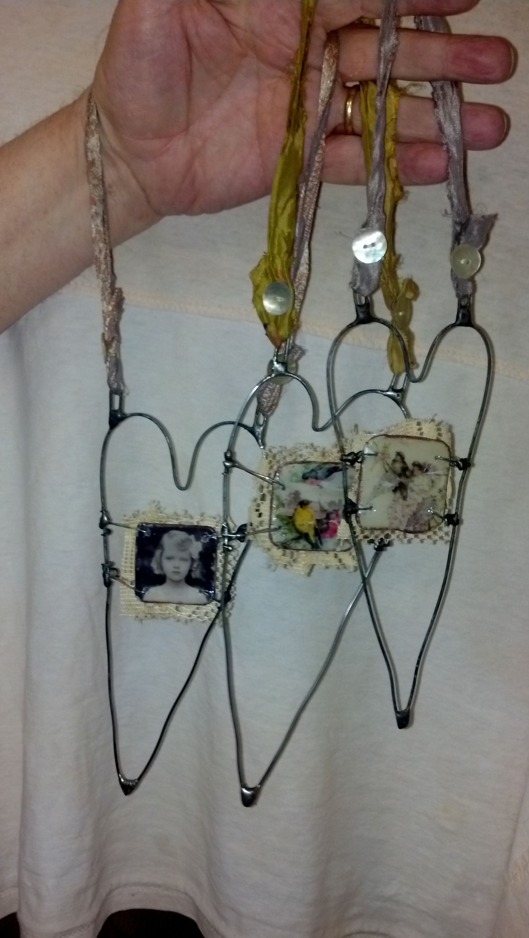 flatwoodsfolkart.typepad.com...thin, cheap wire hangers from the ...