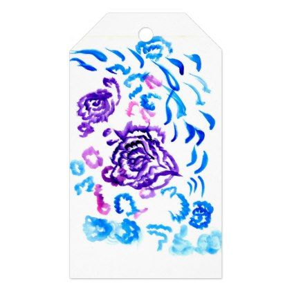 #flower - #Colorful Flowers Strokes 4 Gift Tags