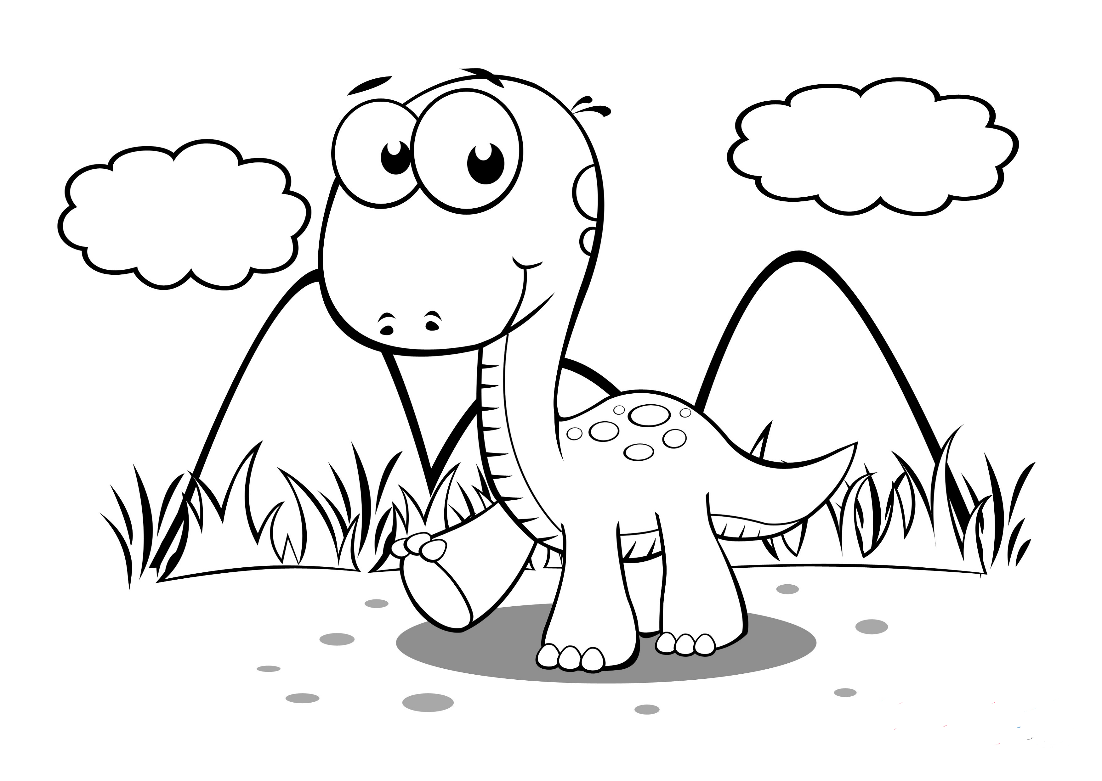 Baby Dinosaur Coloring Pages For Preschoolers Dinosaur Coloring Pages Cartoon Coloring Pages Dinosaur Coloring