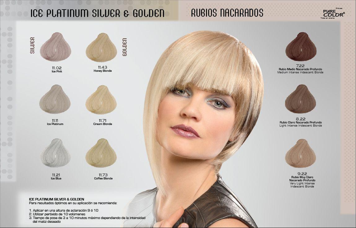 Tonos De Rubio Carta De Colores Gama De Colores Tintes Para Cabello Loquay Tintes De Cabello