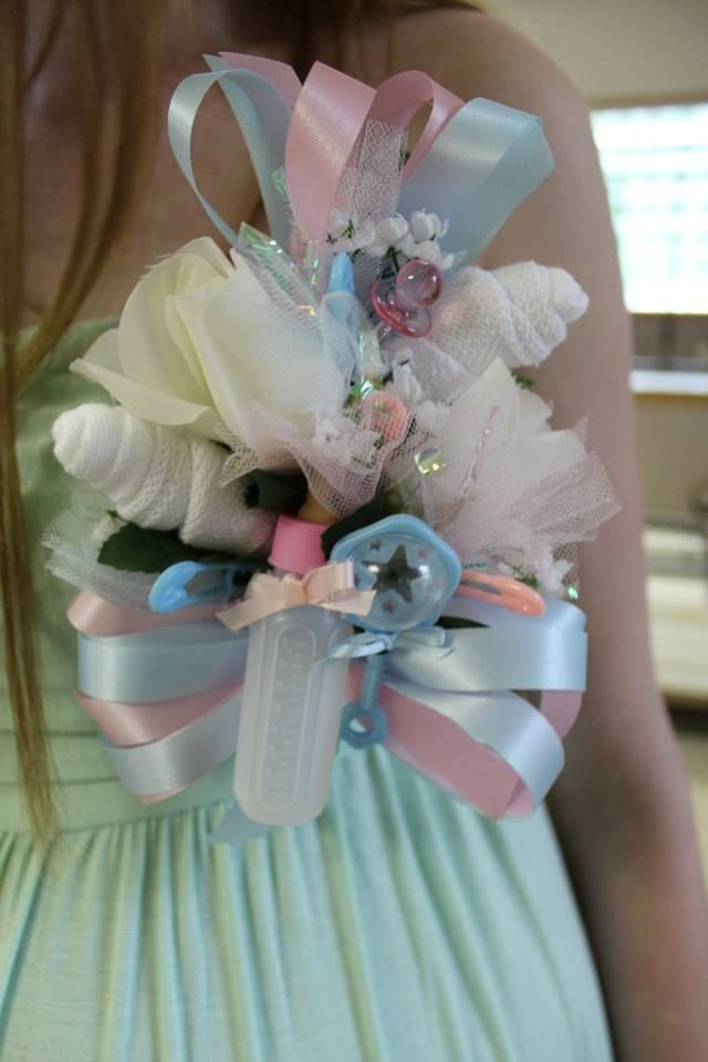 Our Baby Shower Baby Shower Corsage Easter Baby Shower Pink