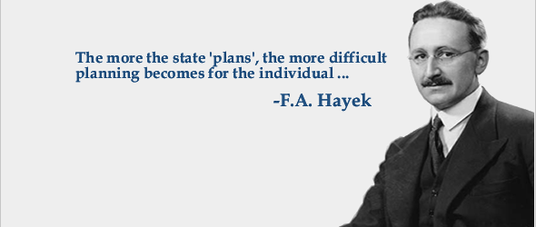 """If the central contest of the twentieth century has pitted capitalism against socialism, then F. A. Hayek has been its central figure. He helped us to understand why capitalism won by a knockout. It was Hayek who elaborated the basic argument demonstrating that central planning was nothing else but an impoverishing fantasy."" (Kenneth Minogue, ""Giants Refreshed II: The Escape from Serfdom: Friedrich von Hayek and the Restoration of Liberty"". TLS: Times Literary Supplement. Jan 14, 2000, p…"