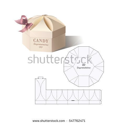 Retail box with blueprint template gift box paper plate box malvernweather Gallery