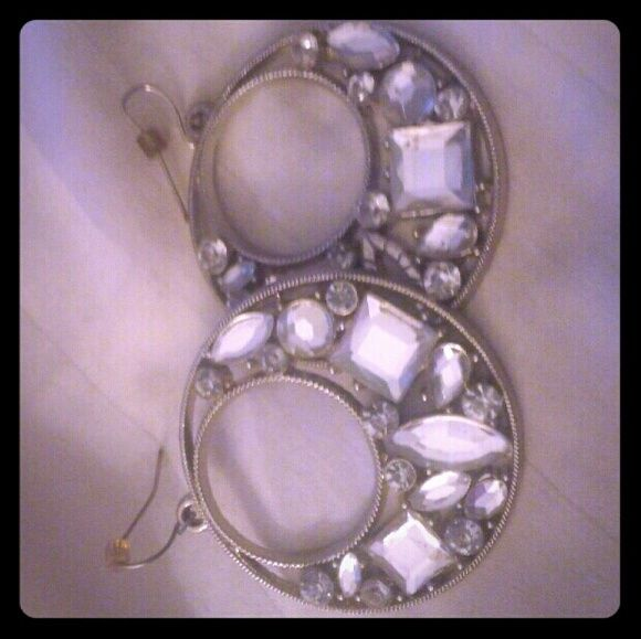 Faux Diamond Hoop Earrings So Glam E Up Any Ensemble With These Fabulous