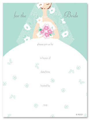 Blank Bridal Shower Invitations | Bride Bridal Shower Fill-in Bridal ...