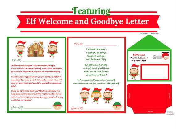 Welcome and Goodbye Christmas Letter Elf Letter Elf Welcome and - goodbye letter