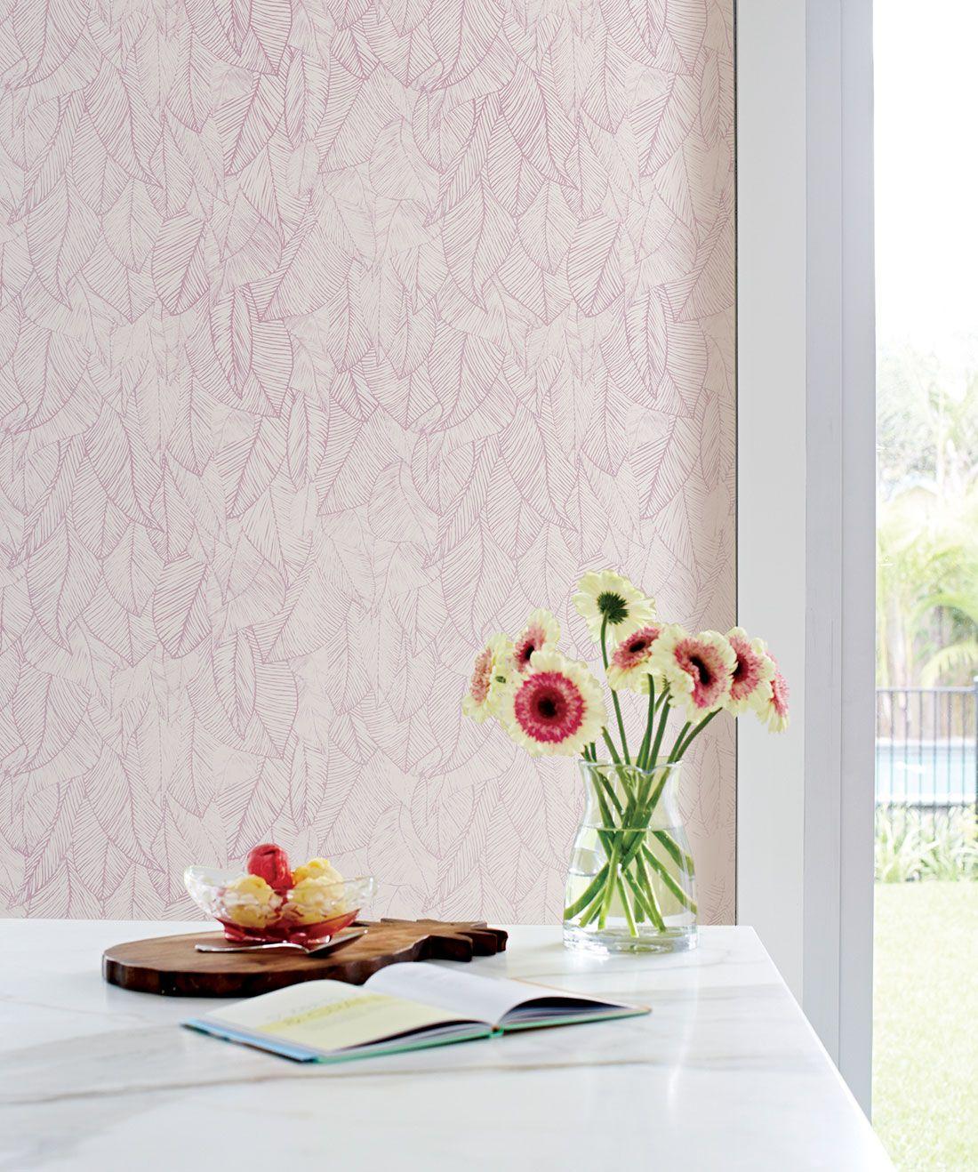 Bonfire Wallpaper Spectacular Leaf Design Milton King Leaf Wallpaper Wallpaper Traditional Wallpaper
