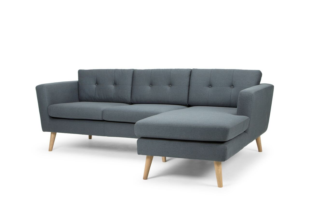 Buy Nahla Scandinavian Style 3 Seater Sofa with chaise ...