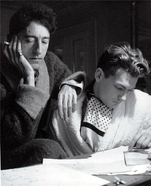 Jean Marais Et Jean Cocteau : marais, cocteau, Cocteau, Marais, Svartvitt,, Ansikten,, Persona