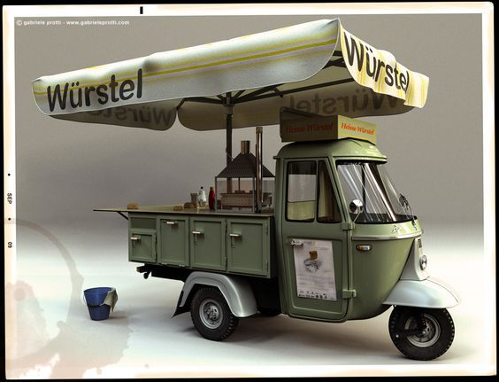 Wurstel Three Wheeled Food Cart How Much An Awning Umbrella Does Camión De Comida Carritos De Comida Carritos De Comida Rápida