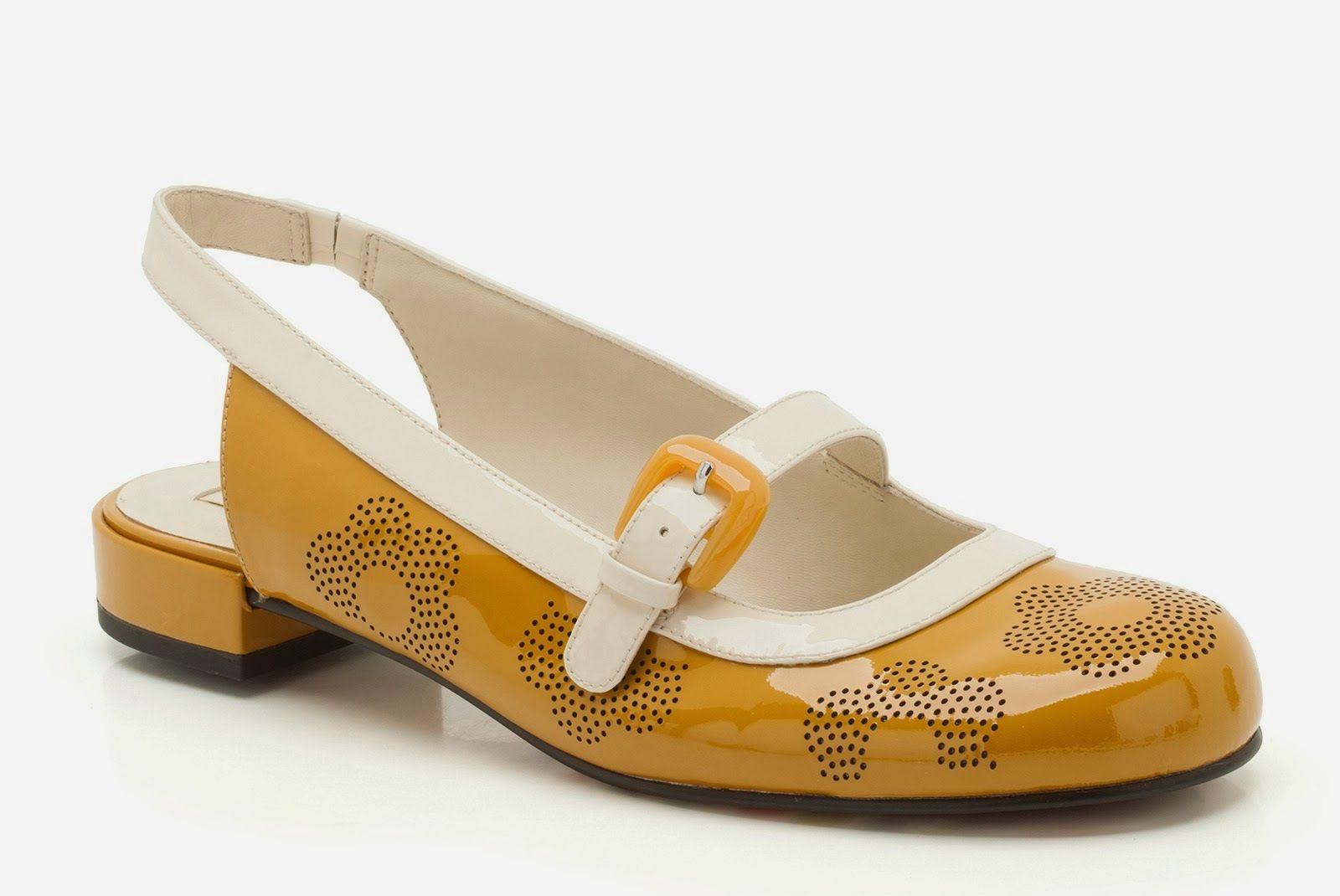 Orla Kiely x Clarks - Mustard Milly Shoes