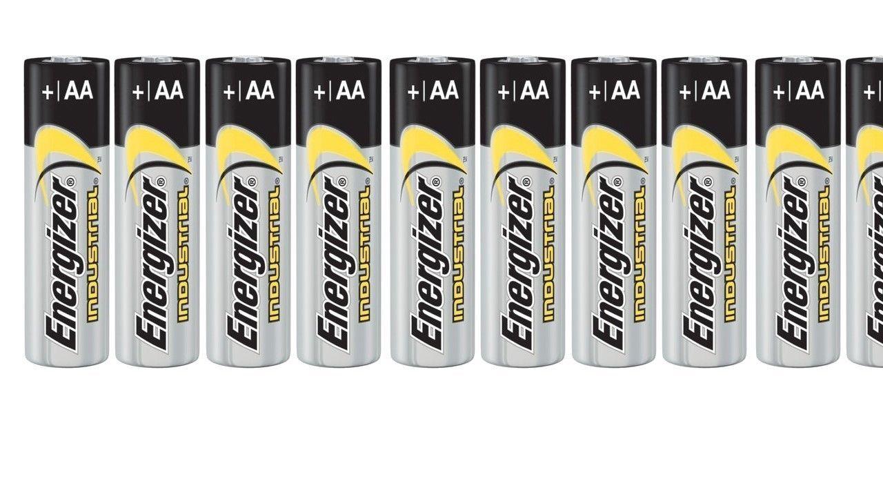 10 Energizer Industrial Aa Alkaline Batteries En91 Lr6 Alkaline Battery Energizer Alkaline
