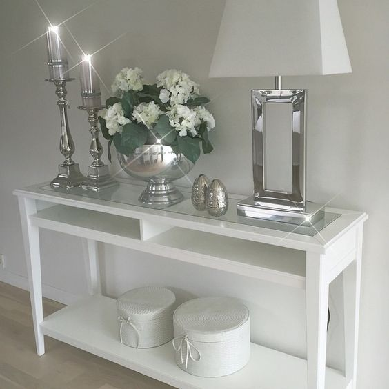 Home Decoration Silver Wohnen Dekoration Wohnzimmer Wohungsdekoration #silver #accessories #for #living #room