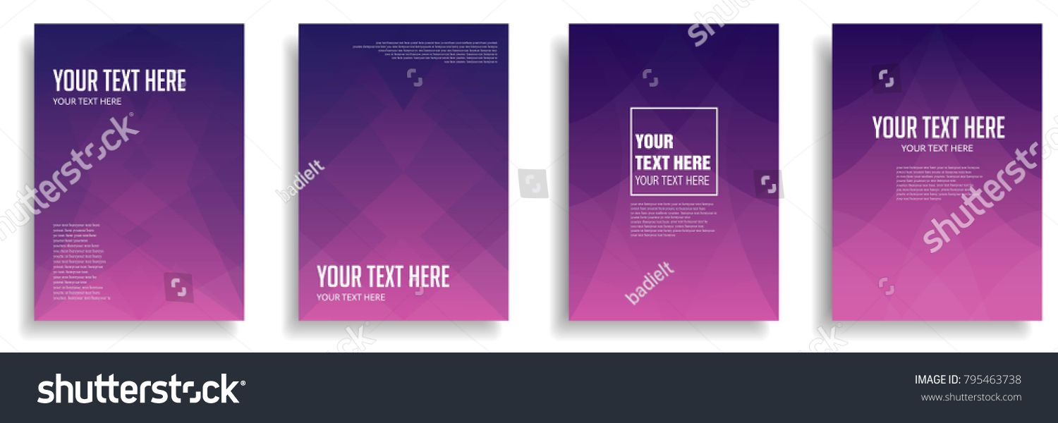 minimal cover design with colorful halftone gradient  vector