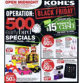 There Are Also Over 500 Early Bird Specials That Will Be Offered From Midnight Thanksgiving Day To Black Friday Ads Kohls Black Friday Black Friday Inspiration
