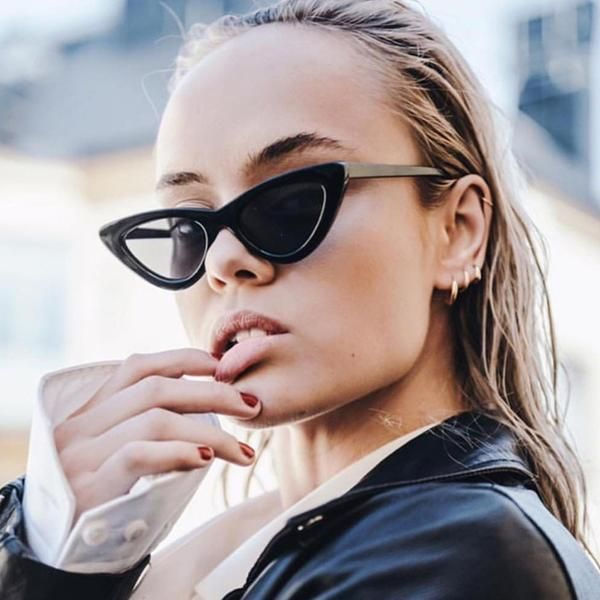 8a50bc3546b6b  SUNGLASSES  NEW Women Black Red Cat Eye Sunglasses Luxury Brand Designer  Small Ladies Sun Glasses Chic Sexy Star Style Eyewear Men Oculos…