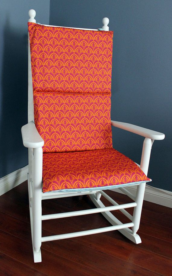 Rocking Chair Cushion Cover  Blue Tangerine  NURSERY
