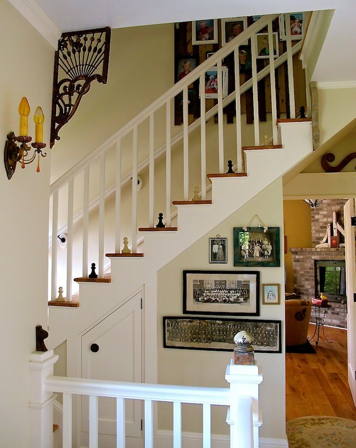 2Nd Floor Staircase Styled With Salvaged Corbels Sconces And | 2Nd Floor Stairs Design | Floor Plan | Low Cost | Outside | Unique | Contemporary