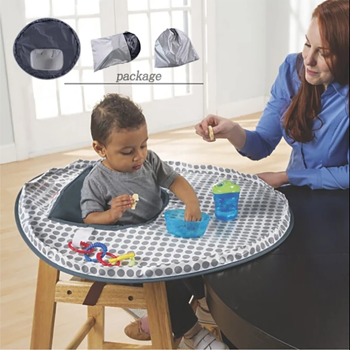 Baby Eating Table Mat Baby Feeding Saucer High Chair Cover For Kids Highchair Cover Germ Prevents Food Toys Falling To Floor Highchair Cover Toddler Chair Seat Covers For Chairs