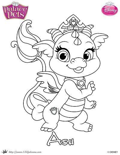 Free Princess Palace Pets Coloring Page Of Ash Skgaleana With Images Princess Coloring Pages Disney Princess Coloring Pages Dragon Coloring Page