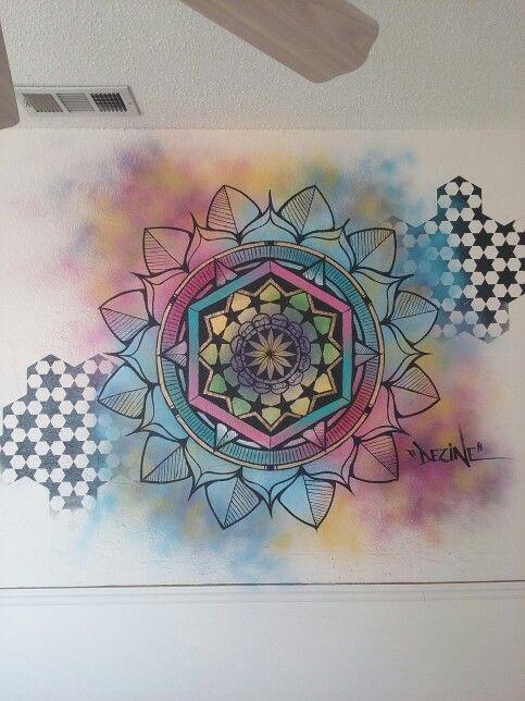 Mandala Mural Wall Art Ideas School Murals Office Walls