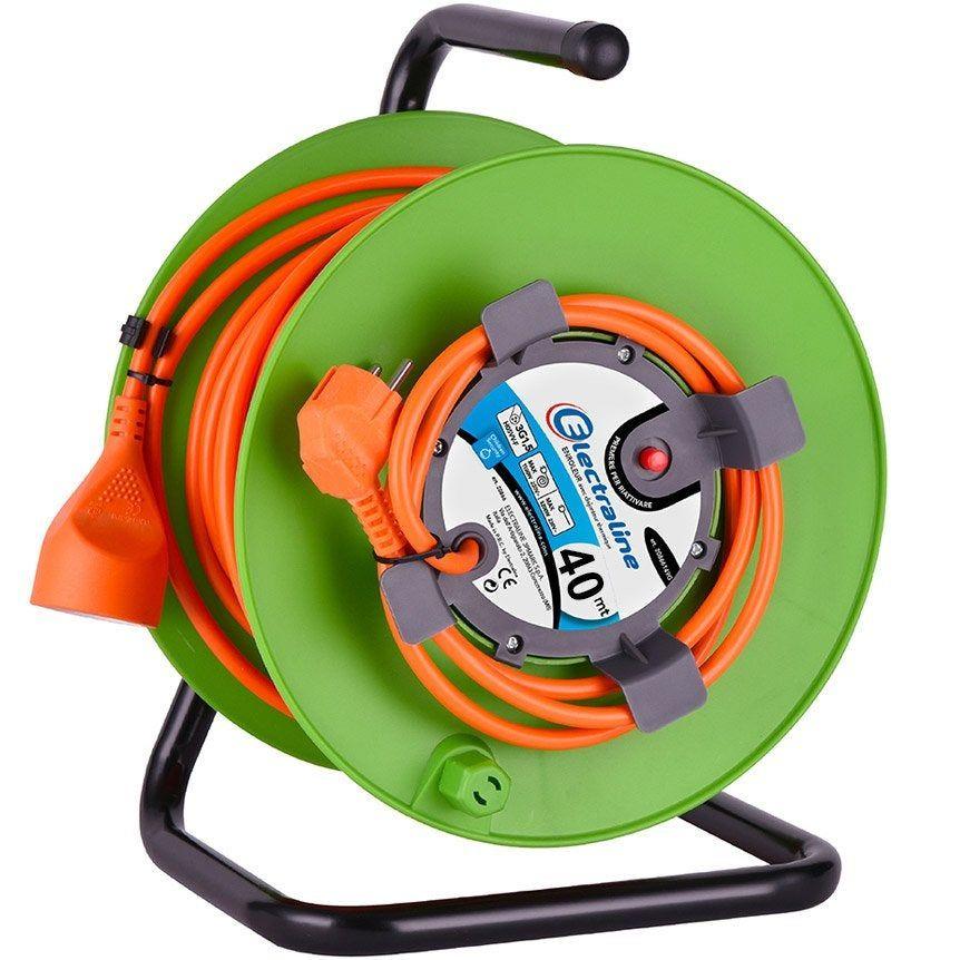Enrouleur De Cable Electrique Jardin L 40 M Ho5vvf 2x1 5 Electraline Avec Images Cable Electrique Enrouleur De Cable Jardins