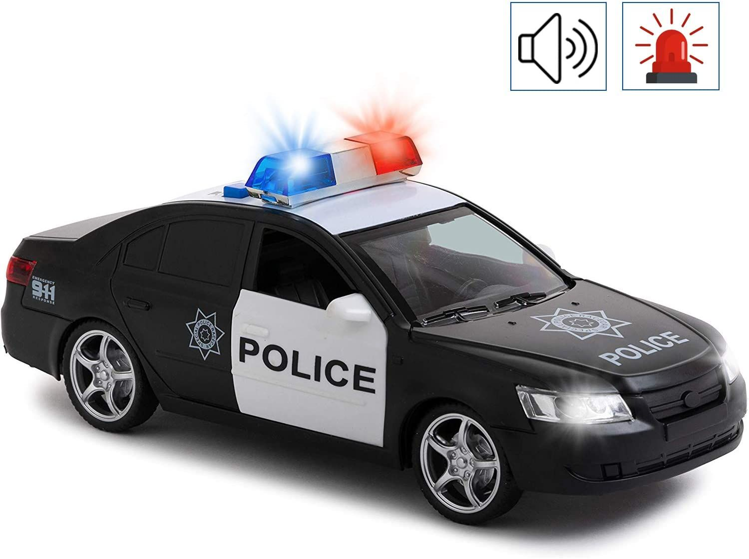 Toy To Enjoy Friction Powered Police Car With Light Sounds Heavy Duty Plastic Vehicle Toy For Kids Children Ope In 2021 Toy Police Cars Police Cars Police Toys