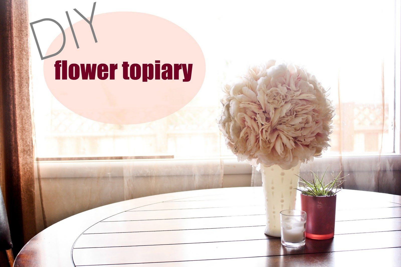 JustLove.lyThings: 14 days of love: flower topiary | wedding maybes ...