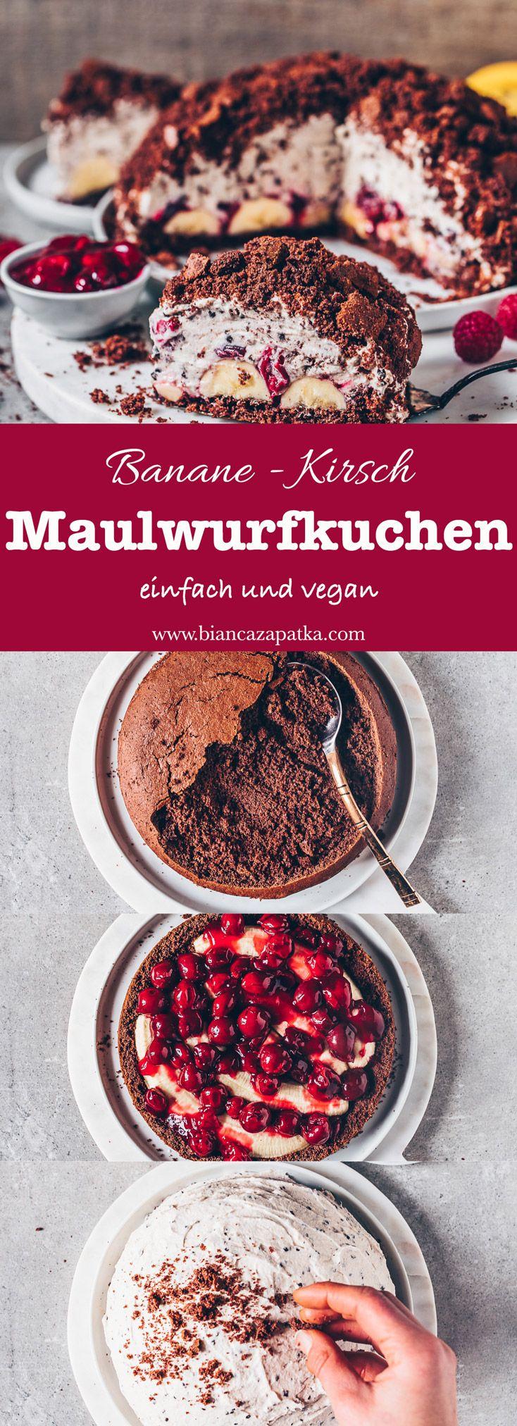 Photo of Maulwurfkuchen mit Banane und Kirschen (vegan) – Bianca Zapatka | Rezepte