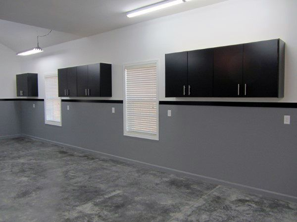 Manly Paint For Garage With Half Wall Grey And Other White