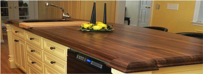 Black Walnut Wood Kitchen Countertops Edging Decorative Or Just Block